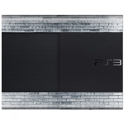 Gray Brick Wall - PS3 Super Slim Console Skin
