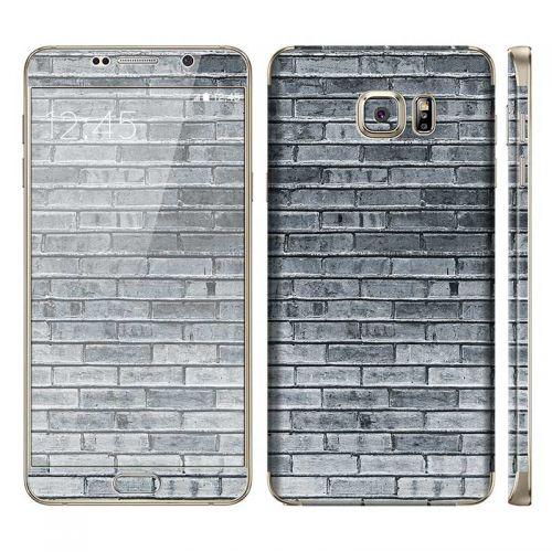 Gray Brick Wall - Galaxy Note 5 Phone Skin