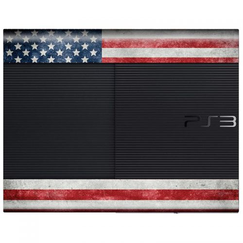 Distressed American Flag - PS3 Super Slim Console Skin