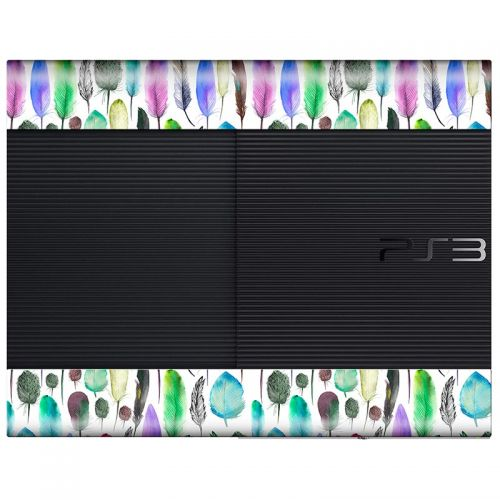 Colourful Feathers - PS3 Super Slim Console Skin