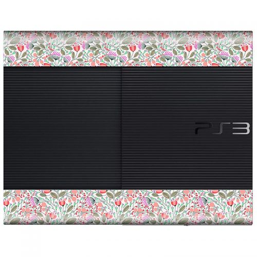 Floral Pattern - PS3 Super Slim Console Skin