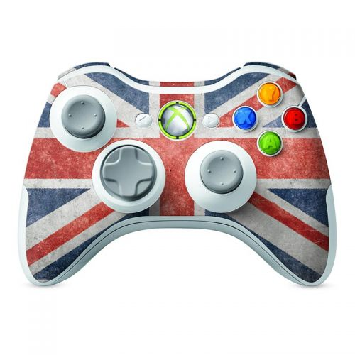 Distressed Great Britian Flag -  Xbox 360 Controller Skin