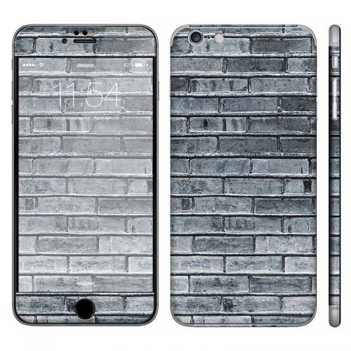 Gray Brick Wall - iPhone 6 Plus Phone Skin