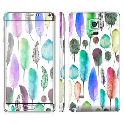 Colourful Feathers - Galaxy Note 4 Phone Skin