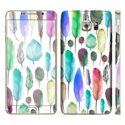 Colourful Feathers - Galaxy Note 5 Phone Skin