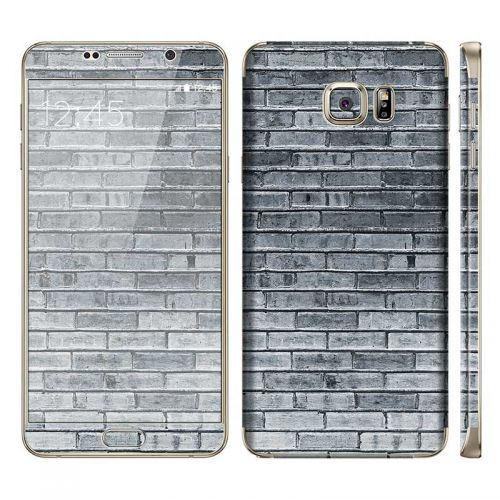 Gray Brick Wall - Galaxy Note 5 Phone Skin